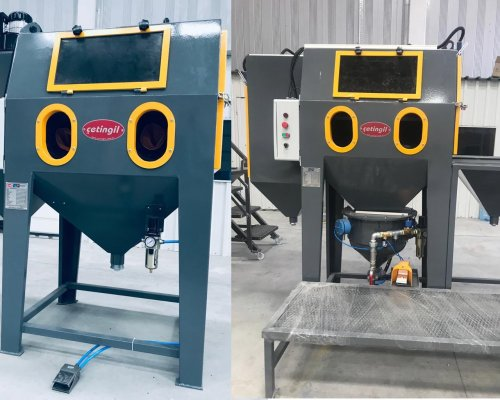 What are the sandblasting cabinets?